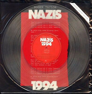 """12"""", Maxi-Single Limited Edition Numbered Clear  Roger Taylor – Nazis 1994 Uk"""