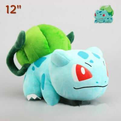 RARE Pokemon Bulbasaur Plush Toy Soft Stuffed Animal Doll Cuddly Teddy 12'' Gift