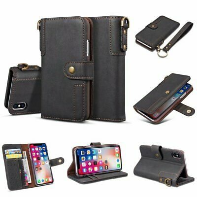 Retro Magnetic Flip Leather Wallet Phone Cover Case For iPhone 5 Samsung Huawei