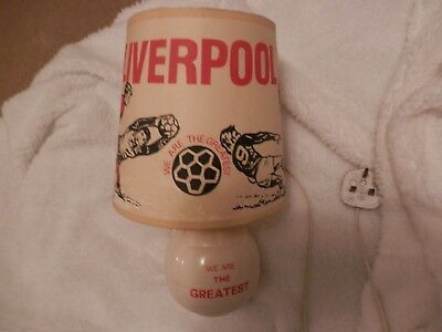Vintage Liverpool FC Lamp & Shade circa 1960s 1970s We Are The Greatest