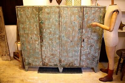 Industrial Style Cupboard In Distressed Paint