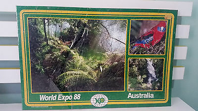 World Expo 88 Jigsaw Still In Original Packet! Rain Forest Splendor!