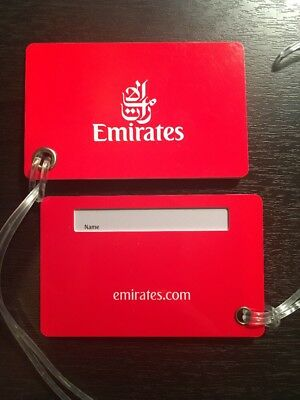 2x NEW Premium EMIRATES Bag Name Tags. Durable plastic. Multiple available.