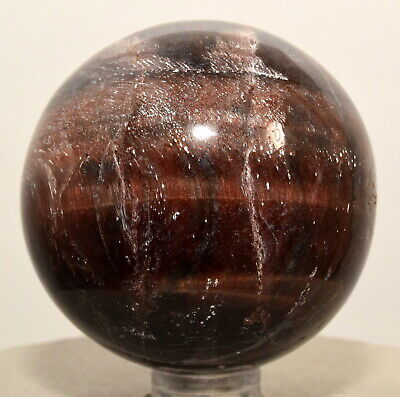 """2"""" 175g Red Tiger's / Ox Eye Sphere Polished Gemstone Crystal Mineral - Africa"""