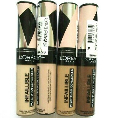 L'OREAL INFALLIBLE MORE THAN CONCEALER 11ml -VARIOUS CHOICES USE DROP DOWN MENU