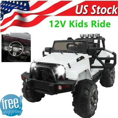 Ride On Cars Jeep 12v Electric Kids Toys W Remote Control 3 Sds 4