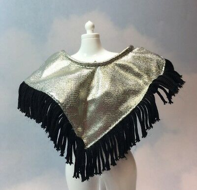 Jem and the Holograms JETTA doll Clothes Black & White fringe TOP vintage Hasbro