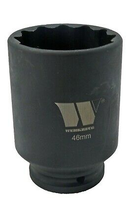 46mm impact socket 1/2 inch drive 1 13/16 inches x 85mm deep Welzh 4184-WW