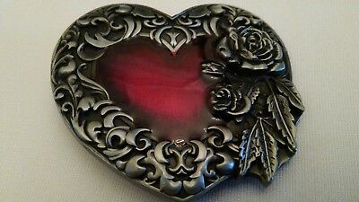 Red Heart Belt Buckle