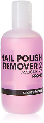 Salon System Profile Pink Nail Polish Remover Acetone Free for Sculpted and