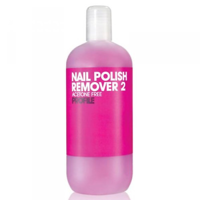 Salon System Profile Pink Nail Polish Remover 2 Acetone Free For Sculpted and