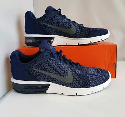 5ff9d70d47 Nike Air Max Sequent 2 Uk Size 10 Binary Blue Dark Obsidian Navy Mens 852461 -