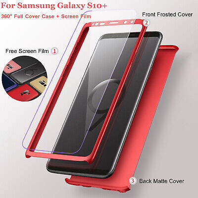 For Samsung Galaxy S10 Plus S10e S10 360° Full Cover Phone Ultra Slim Matte Case