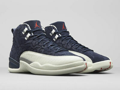 huge selection of 15bc5 6ab53 NIKE AIR JORDAN Retro 12 PRM GS size 7Y 7. BV8017-445. College Navy White  Red.