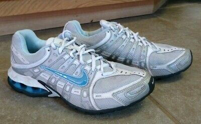 Womens Nike Reax sz 8 Athletic Running Shoes Blue Gray White Tennis Shoe  Running 3c51054c5