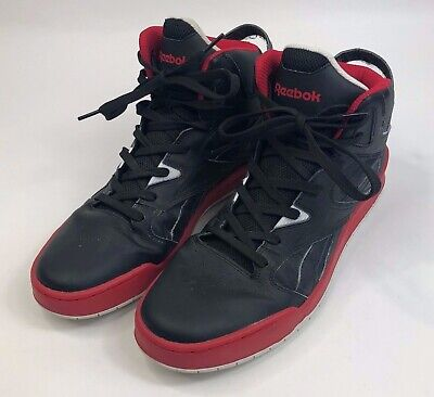 89f79e8b72f Mens Size 12 Reebok High Top Basketball Shoes Sneakers Black Red Tennis  Athletic