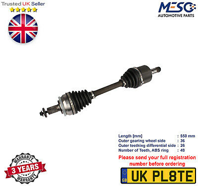 Drive Shaft Axle Fits For Volvo S80 2.4 D T D5 1999-2006 Left Hand Side