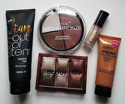 Technic Shimmer Night Out Set Instant Tan Strobe Highlight Eye Shadow Bronze