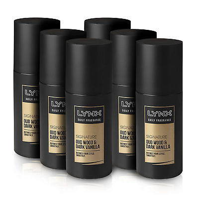 Lynx Oud Wood and Dark Vanilla Signature Daily Fragrance 100 ml - Pack of 6