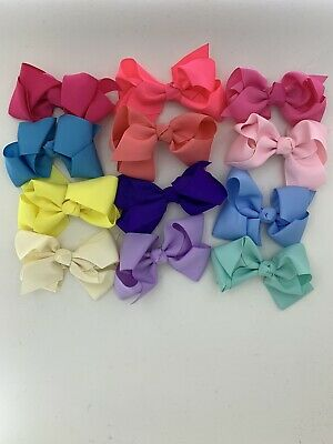 12pcs 5inch Hair Bows Boutique Alligator Hair Clips For Children And Teens.