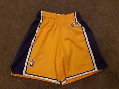 Vintage Los Angeles Lakers NBA Basketball Shorts Made by Champion see  listing 207c6f586f01