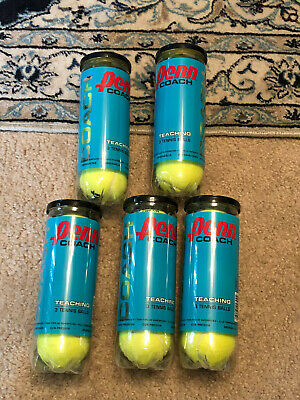 Penn Practice Coach Tennis Balls Teaching 5 Cans Total Of 15 Wholesale New Fresh