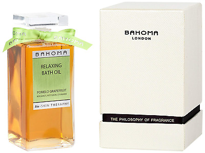 Bahoma Pomelo Grapefruit Luxurious Gift Box with a 200 ml Bath Oil in a Glass
