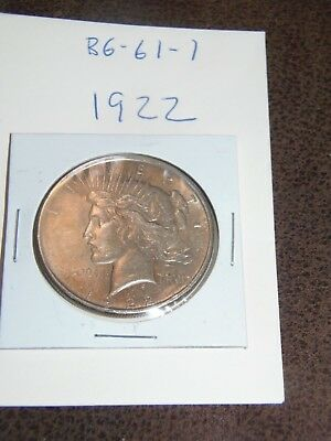 1922 PEACE Silver Dollar YOU WILL GET WHATS IN THE PICTURES.(BG-61-1)