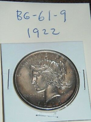 1922 PEACE Silver Dollar YOU WILL GET WHATS IN THE PICTURES.(BG-61-9)