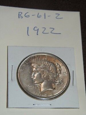 1922 PEACE Silver Dollar YOU WILL GET WHATS IN THE PICTURES.(BG-61-2)