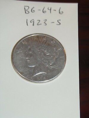 1923-S   PEACE Silver Dollar YOU WILL GET WHATS IN THE PICTURES.(BG-64-6)