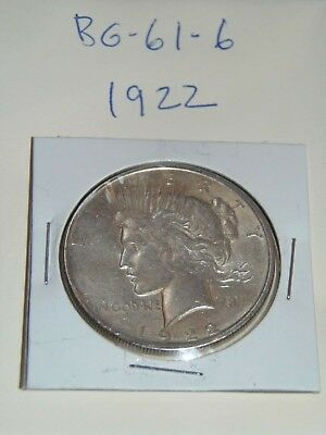 1922 PEACE Silver Dollar YOU WILL GET WHATS IN THE PICTURES.(BG-61-6)