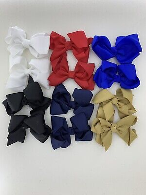12pcs 5inch Hair Bows Boutique Alligator Hair Clips For Girls And Teens.