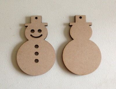Xmas Wooden MDF Blanks Christmas Craft Gift Tags 50 x REINDEERS plain 9cm