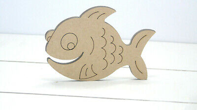 CUTE FISH - Wooden * 4cm - 50cms * MDF 4mm Craft Shapes Tags Fairy MAGIC