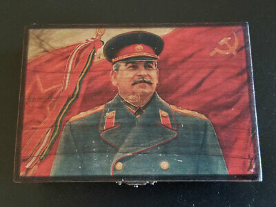 Stalin Wood Wooden Box Soviet USSR Vintage Collectible Antique Rare