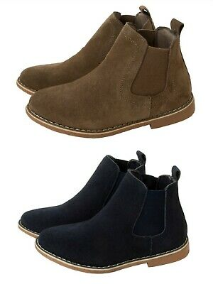 cd890899c6901 Boys Chelsea Dealer Boots Real Suede Leather Ankle Boots Kids Teens Uk Size  8-5