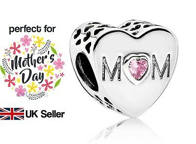 Pandora Mom Charm - Mothers Day - Gift Pouch Included - Mum - UK Seller