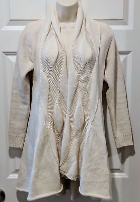 dde7d87ec1 Peregrine JG Glover WOMEN 100% Wool Cable Knit Cardigan Sweater Made in  England