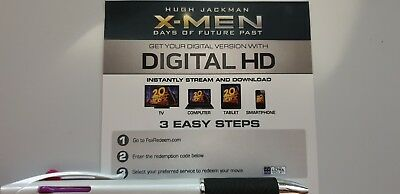 X-men Days of Future Past - Ultraviolet Code from a 4k UHD Bluray