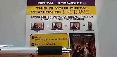 Inferno - Ultraviolet Code from a 4k UHD Bluray