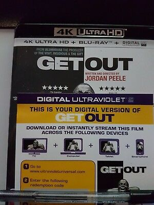 Get Out - Ultraviolet from a 4k UHD Bluray