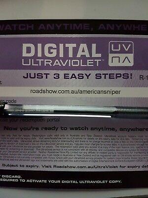 American Sniper - Ultraviolet Code from a Bluray