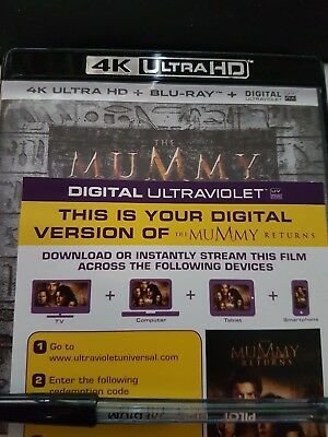 The Mummy Returns - Ultraviolet Code from a 4k UHD Bluray