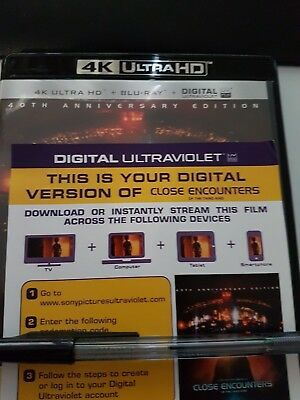 Close Encounters of the Third Kind - Ultraviolet Code from a 4k UHD Bluray