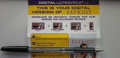 The Patriot - Ultraviolet Code from a 4k UHD Bluray