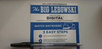 The Big Lebowski - Ultraviolet Code from a 4k UHD Bluray