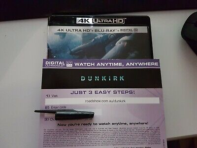 Dunkirk - Ultraviolet Code from a 4k UHD Bluray