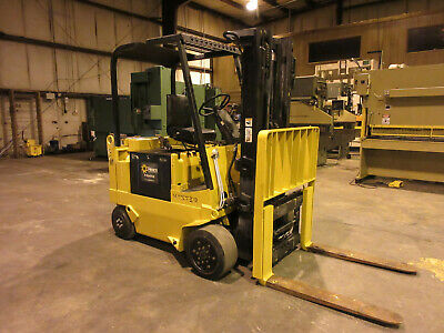 Hyster 6000 Lbs Electric Forklift 36 Volt Model E60 Xl Reconditioned Battery