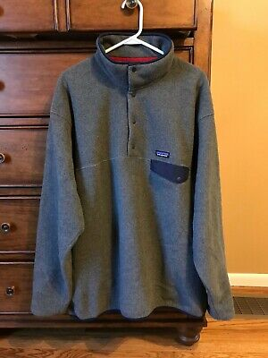 4014f0e2596 Patagonia  25580 Lightweight Synchilla Snap-T Fleece Pullover  Mens 2XL XXL  Gray
